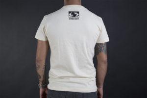 Camiseta El Hombre por detrás color crema